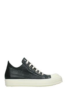 Rick Owens-Sneakers Low in pelle nera