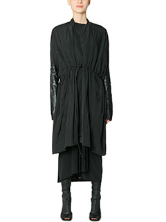 Rick Owens-Cappotto Sail Coat in misto seta