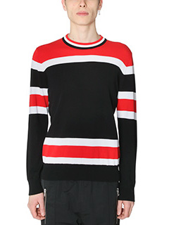 Givenchy-Maglia in cotone nero rosso bianco