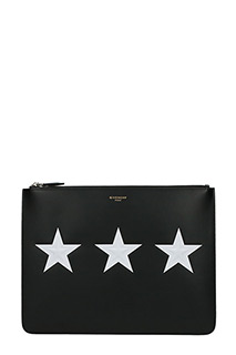 Givenchy-Pochette Large Stars  in pelle nera