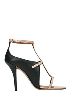 Givenchy-Sandal strap 10 black leather sandals