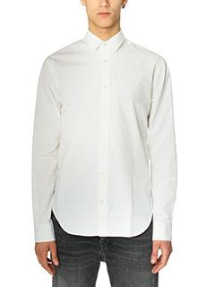 Golden Goose Deluxe Brand-Camicia Slim Oxford in cotone bianco