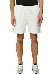 Golden Goose Deluxe Brand-Shorts Retro in cotone bianco-tasche