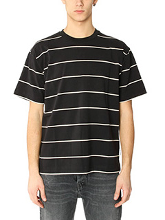 Golden Goose Deluxe Brand-T-Shirt Stripes  in cotone nero