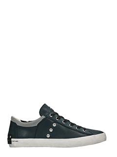 Crime-Sneakers basse in pelle blue grigia