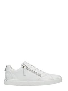 Crime-Sneakers low in pelle bianca