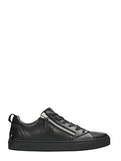 Crime-Sneakers low in pelle nera