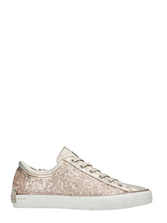 Crime-Sneakers basse in tessuto paillettes cipra