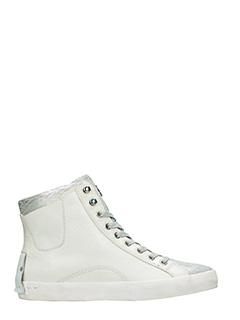 Crime-Sneakers Trecking in pelle bianca