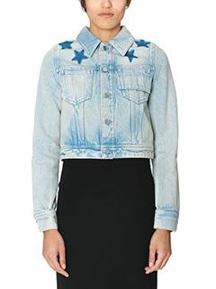 Givenchy-blue denim outerwear