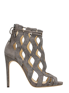 Alexandre Birman-Loretta  taupe suede ankle boots
