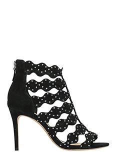 Alexandre Birman-Danata  black suede sandals