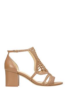 Alexandre Birman-Andrielle leather color leather sandals