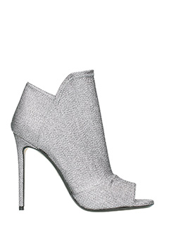 Grey Mer-silver Tech/syntetic ankle boots