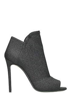 Grey Mer-black Tech/syntetic ankle boots