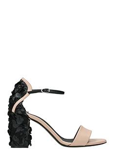 Grey Mer-powder leather sandals