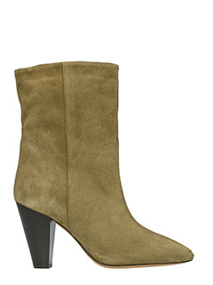 Isabel Marant-Tronchetti Darilay in suede khaki