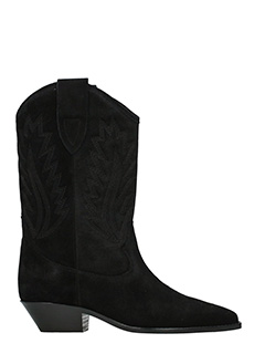 Isabel Marant-Dallin black suede ankle boots