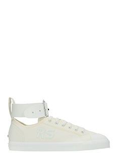 Adidas By Raf Simons-Sneakers Spirit Buckle in tessuto e gomma bianca