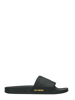 Adidas By Raf Simons-Sandali Slide Adilette Bunny in gomma nera