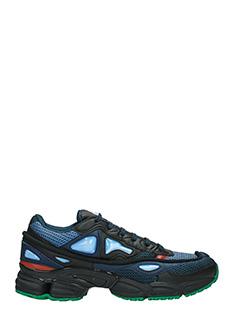 Adidas By Raf Simons-Sneakers Ozweego 2 in pelle e tessuto blue nero