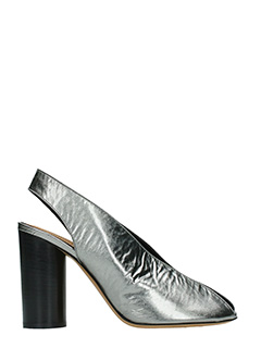 Isabel Marant-Meirid silver leather sandals