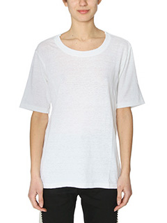 Isabel Marant Etoile-Kendriw white cotton and linen t-shirt