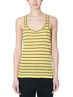 Isabel Marant Etoile-Avien yellow cotton topwear