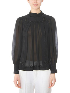 Isabel Marant-Maeva black silk Blouse