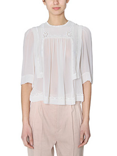 Isabel Marant-Mara white silk Blouse