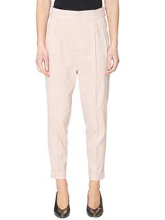 Isabel Marant-Pantaloni Neyo in cotone rosa