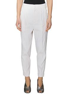 Isabel Marant-Pantaloni Neyo in cotone bianco