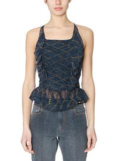Isabel Marant Etoile-Bowen black silk topwear