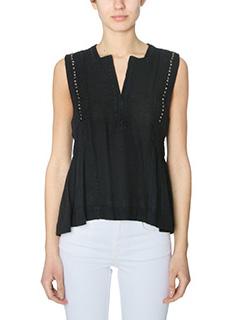 Isabel Marant Etoile-Adonis black cotton topwear