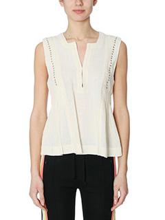 Isabel Marant Etoile-Adonis beige cotton topwear