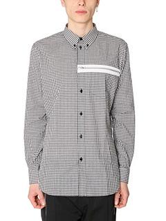 Givenchy-Camicia Chess in cotone bianco nero