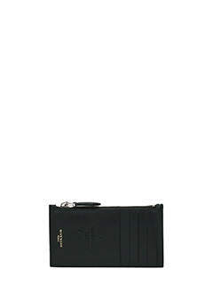 Givenchy-Portacarte Zip Card Hold  in pelle nera