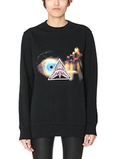 Givenchy-Felpa Illuminati in cotone nero