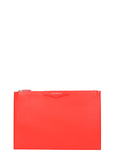 Givenchy-Pochette Antigona Large in pelle rossa
