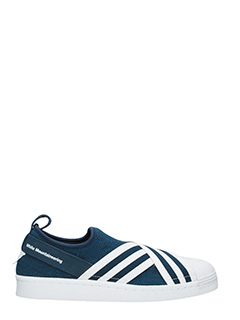 Adidas by White Mountaineering-Sneakers Slip On Superstar in primeknit blu