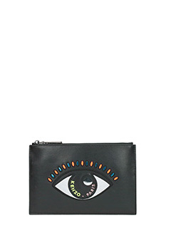 Kenzo-Pochette Small  Eye in pelle nera