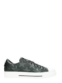Valentino-Sneakers Low in pelle e nylon nero
