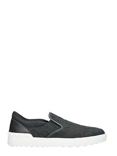 Valentino-Sneakers Slip On  in tessuto nero