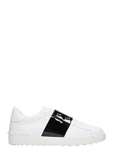 Valentino-Sneakers Low Stripe in pelle bianca