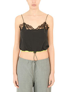 Alexander Wang-Top Cropped in seta nera