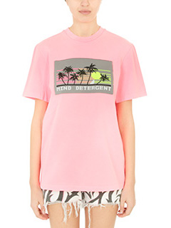 Alexander Wang-T-Shirt Crew Neck in cotone rosa fluo