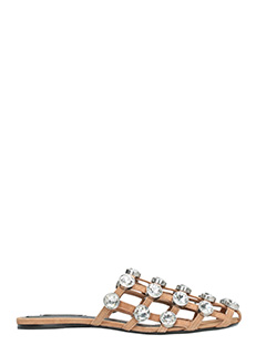 Alexander Wang-Jeweled Amelia leather color suede flats