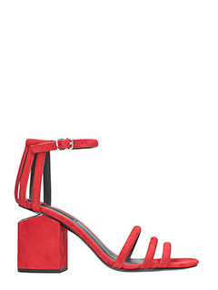Alexander Wang-Sandali Cage Abby in camoscio rosso