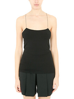 T by Alexander Wang-Top Micro Modal Tank in jersey nero