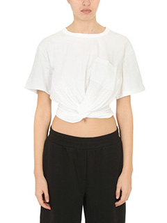 T by Alexander Wang-T-Shirt Cotton Slee Tee in jersey bianco